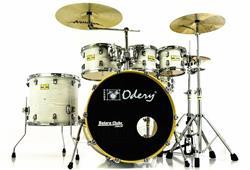 """Bateria Odery Fluence Jam Session FL.220 White Ash Maple 22"""",8"""",10"""",12"""",16"""" com Kit de Ferragens"""