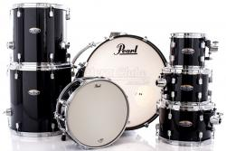 "Bateria Pearl Decade Maple Black Ice Lacquer 20"",8"",10"",12"",14"",16"" (Shell Pack)"