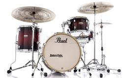 "Bateria Pearl Decade Maple Bop Jazz Deep Red Burst Bumbo 18"", 12"", 14"" com Caixa (Shell Pack)"