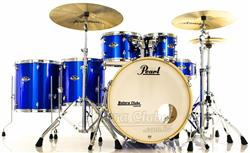 "Bateria Pearl Export EXX Series Mahogany High Voltage Blue 22"",10"",12"",14"",16"" + Ferragens 830"