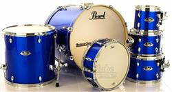 """Bateria Pearl Export EXX Series Mahogany High Voltage Blue 20"""",8"""",10"""",12"""",14"""" (Shell Pack)"""