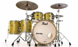 """Bateria Pearl Masters MCT Maple Complete Bombay Gold Sparkle 22"""",10"""",12"""",14"""",16"""" Thin Shells"""
