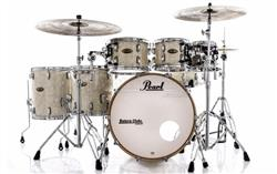 """Bateria Pearl Session Studio Select White Marine 22"""",8"""",10"""",12"""",14"""",16"""" (Shell Pack) Mogno e Birch"""