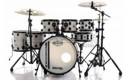 "Bateria RMV Cross Road Big Bianco Wood 20"",8"",10"",12"",14"",16"" com Ferragens e 2 Girafas Hard-Tech"