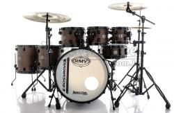 "Bateria RMV Cross Road Big Brown Wood 20"",8"",10"",12"",14"",16"" com Ferragens e 2 Girafas Hard-Tech"