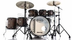 "Bateria RMV Cross Road Big Brown Wood 22"",8"",10"",12"",14"",16"" com Ferragens e 2 Girafas Hard-Tech"