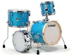 "Bateria Sonor Martini Turquois Galaxy com Mini Bumbo 14"" Kit Compacto com Caixa (Shell Pack)"