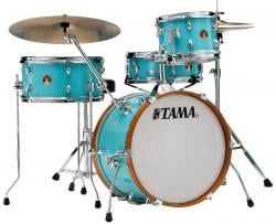 """Bateria Tama Club-JAM Aqua Blue Compacta com Bumbo 18"""", Tom, Surdo e Caixa (Shell Pack)"""