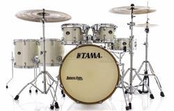 """Bateria Tama Silverstar Birch Vintage White Sparkle 22"""",10"""",12"""",14"""",16"""" com Caixa 14x5"""" (Shell Pack)"""