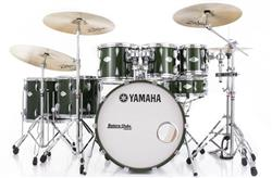 "Bateria Yamaha Beech Custom Emerald Green 22"",8"",10"",12"",14"",16"" (Seminovo) Raridade Made in Japan"