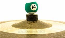 Borboleta Tribal Percussion Bola de Sinuca nº 14 Verde para Estantes de Prato 8mm Kit com 1 Unidade