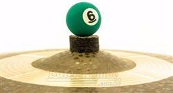 Borboleta Tribal Percussion Bola de Sinuca nº 06 Verde para Estantes de Prato 8mm Kit com 1 Unidade