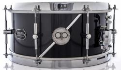 "Caixa AP Drums Inox Black Steel Chrome Stripe 13x7"" Limited com Aros High Hoop Vintage 2.7mm"