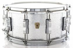 "Caixa Ludwig Classic Maple Silver Mist Sparkle 14x6,5"" Automático Millennium P88AC Made USA"