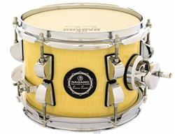 "Caixa Nagano Snare Series Micro New Beat Natural Ivory 8x6"" com Caneca e Clamp Holder para Fixação"