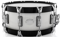 "Caixa Taye Studio Birch Galaxy White 14x6"" com Aros Wood Hoop 14-Ply"