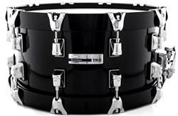 "Caixa Taye Studio Maple Piano Black 14x7"" com Aros Wood Hoop 14-Ply"