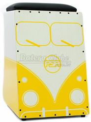 Cajón FSA Limited Series Kombi V-Dub FLS03 Amarelo Assento com Almofada e Dupla Captação Ativa