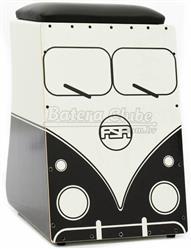 Cajón FSA Limited Series Kombi V-Dub FLS04 Preto Assento com Almofada e Dupla Captação Ativa