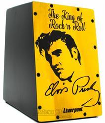 Cajón Mini Liverpool Elvis Presley CAJ-ELVIS Compacto com 20cm de Altura (Crianças ou Adultos)