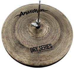 """Chimbal Anatolian Dry Series Regular Hi-hat 15"""" Dark Slot Handmade Turkish"""