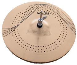 """Chimbal Orion WS Whisper WS14MH 14"""" com Micro Furos em Bronze B10 Prato de Efeito"""