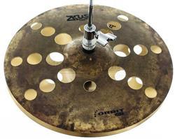 """Chimbal Zeus Orbit ZFX Series 12"""" em Bronze B20 Hihat de Efeito Estilo O-Zone ZOHH12"""