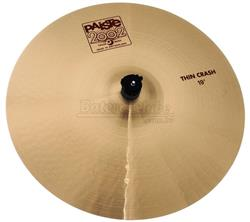 "Crash Paiste 2002 Thin Crash 19"" (Acervo) com Capa Protetora US$ 299"