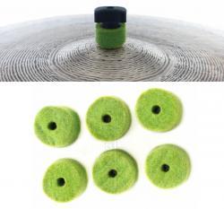 Feltros Gorilla Verde Limão FEPVD Kit com 6 Feltros em Lã de Carneiro para Estante de Prato