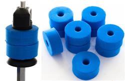 Feltros Rubber Wheel Kit com 10 Feltros (Azul) para Estante de Prato com 15mm de Espessura