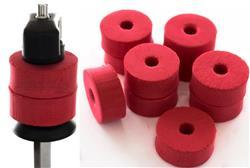 Feltros Rubber Wheel Kit com 10 Feltros (Vermelho) para Estante de Prato com 15mm de Espessura