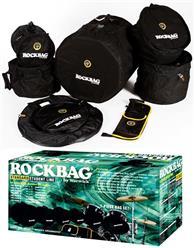 Kit de Bags Rockbag RB22902B Fusion com 7 Peças para Bateria com Bags para Tambores, Pratos e Caixa