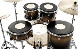 """Kit de Pads de Estudo Nevada Drums 10"""", 12"""", 14"""", 14"""" com Tonalidade de Nota Musical"""