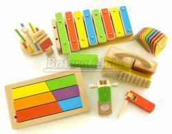 Kit de Percussão Infantil Percubo Mafagafo M11 com 10 Instrumentos (Musicalização Infantil)
