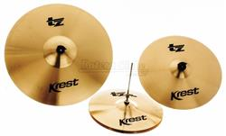 "Kit de Pratos Krest TZ Series com Chimbal 14"", Crash 16"", Ride 20"" TZSET1"