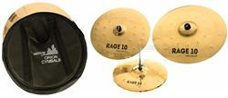 "Kit de Pratos Orion Rage 10 Power RG90 com Crash 18"", Ride 20"", Chimbal 14"" e Bag"