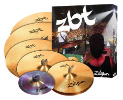 "Kit de Pratos Zildjian ZBT 390 Super Pack Crashes 14"",16"",18"", Ride 20"", Hihat 14"" e Trashformer 10"""
