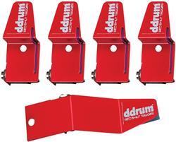 Trigger DDrum Kit com 5 Peças RS Kit Red Shot com 4 de Tons ou Caixa e 1 de Bumbo