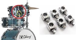 Memória de Altura Odery FLU-MEM-P Kit com 6 de Tom ou Pé Surdo 10,5mm Memory Lock p/ Diversas Marcas