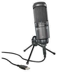 Microfone Audio-Technica 20 Series AT2020USB+ Condensador Ideal para Home Studio com Cabo USB