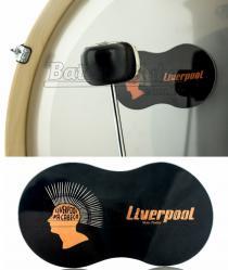 Pad de Bumbo Liverpool PBD Pad Kick em Poliéster para Pedal Duplo