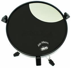 """Pad de Estudo Drum Practice Pads Edu Ribeiro Signature 13"""" PVER Superfície Traseira para Vassourinha"""