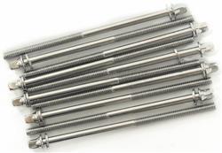 Parafuso Ahead Tension Rods 110MM-10 Kit com 10 Unidades para Afinação 110mm Padrão Top de Bumbo