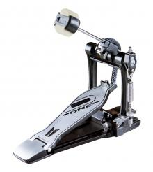 Pedal Single D-One DP10 Double Chain Drive com Corrente Dupla e Batedor 4 Faces