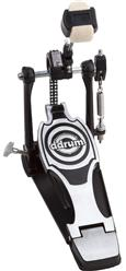 Pedal Single DDrum RX Series RXP Dual Chain Drive System com Batedor de 4 faces e Corrente Dupla