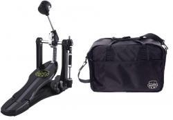 Pedal Single Mapex P800 Armory Series Dual Chain Drive com Bag e Pesos nos Batedores
