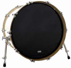 "Pele Attack Drumheads 1-Ply Black No Overtone 22"" Resposta de Bumbo com Muffle Abafador DHNO22B"