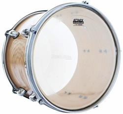 "Pele Attack Drumheads 2-Ply Medium Clear 18"" Filme Duplo Transparente DH18 com Borda Tone Ridge"