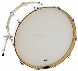 "Pele Attack Drumheads 2-Ply Thin Skin Coated Bass 22"" Filme Duplo Porosa de Bumbo DHTS2-22C"