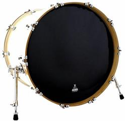 "Pele Attack Drumheads Terry Bozzio Signature Thin Black Resonant 18"" Resposta Preta de Bumbo TBBL18"